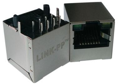 LPJD4012BENL, 수직 RJ45 잭, 1CT : 1CT, 8P8C 10 / 100Mbps, 방패 LED G-Y