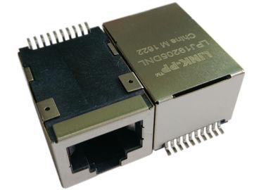 LPJ19205DNL SMT POE RJ45 잭, 1 배 10/100Mbps IEEE 802.3af 이더넷을 통한 전력
