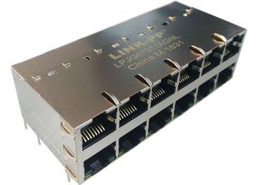 LED IEE802.3at로 LPJG67011AGNL 2x6 POE RJ45 커넥터 1000BASE-T